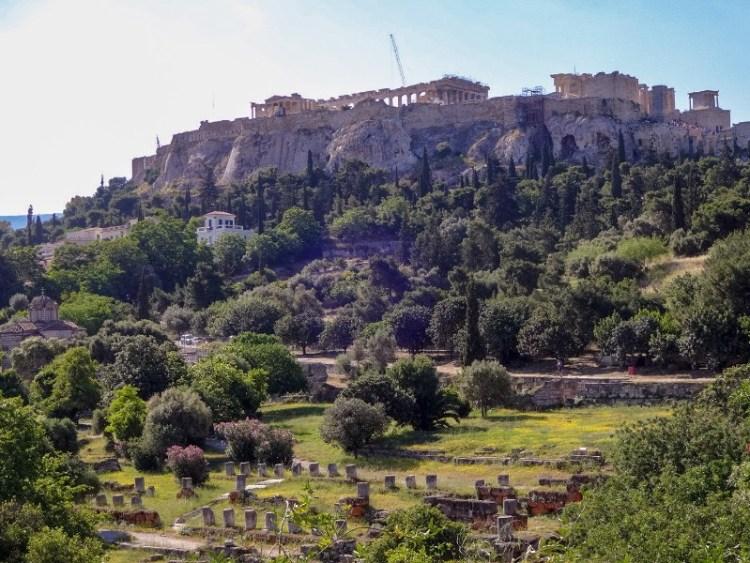 Akropolis Athene Griekenland Oude Agora