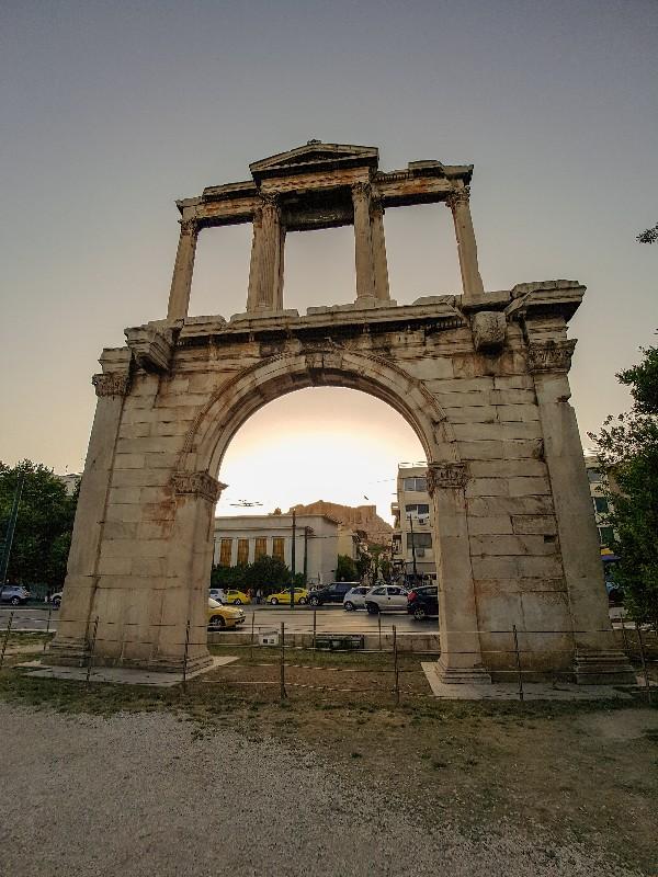 Hadrians wall Athene Griekenland