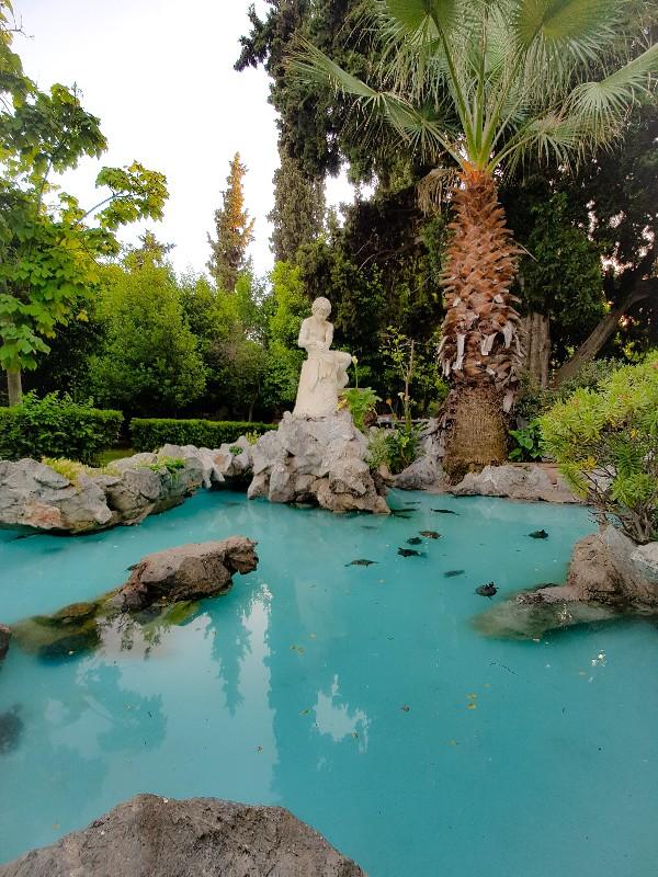Nationale tuinen van Athene Griekenland
