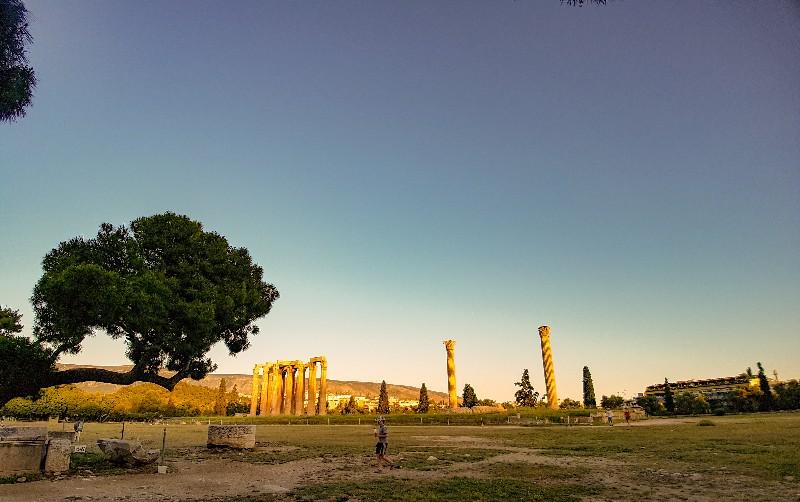 Tempel van Olympische Zeus Athene Griekenland