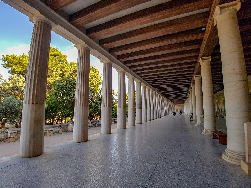 Stoa van Attalos Athene Griekenland