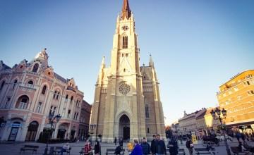 Trg Slobode vrijheidsplein Novi Sad Servië cathedraal