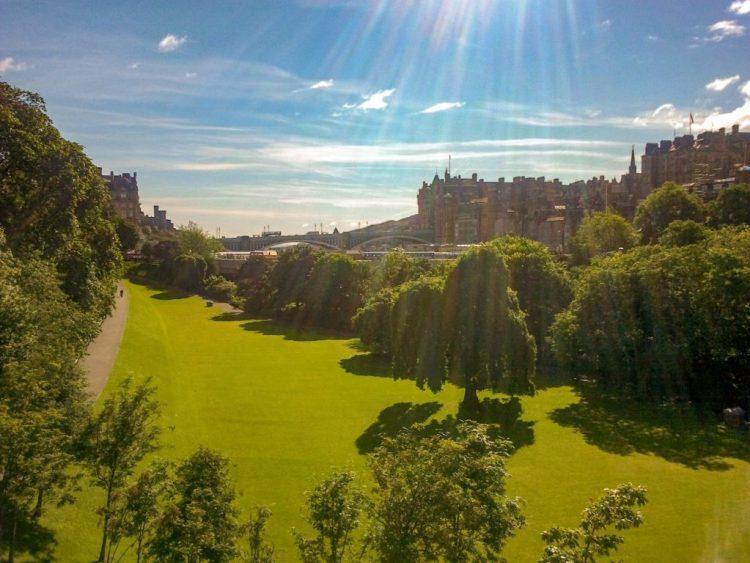 Princess Street Gardens Edingburg Engeland Schotland