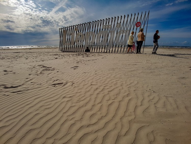 Liepaja stranden Letland