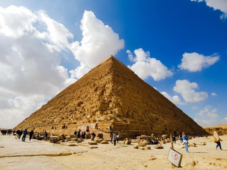 Piramide van Gizeh beklimmen Caïro Egypte Sfinx Cheops