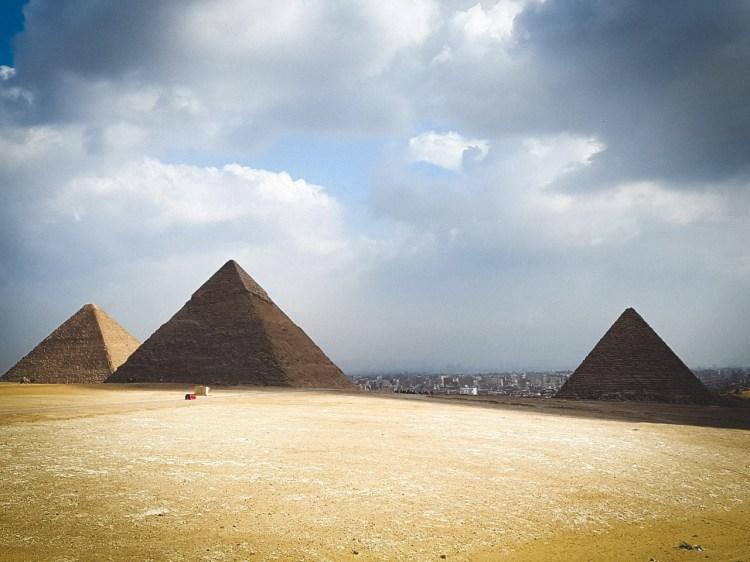 Ligging Piramide van Gizeh Caïro Egypte Sfinx Cheops