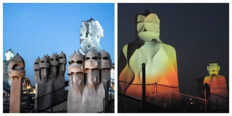 la pedrera casa mila barcelona gaudi rooftop warriors