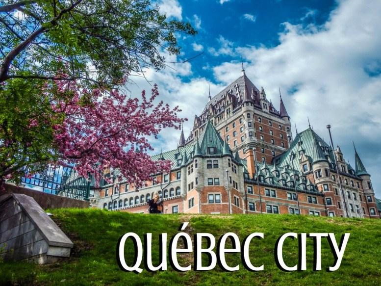 quebec city chateau frontenac flowers