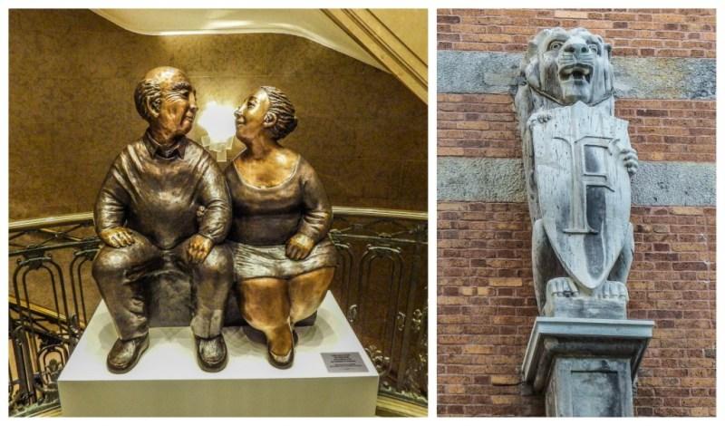 chateau frontenac love sculpture