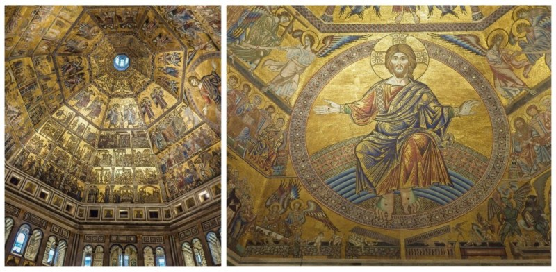 florence italy baptistery gold ceiling