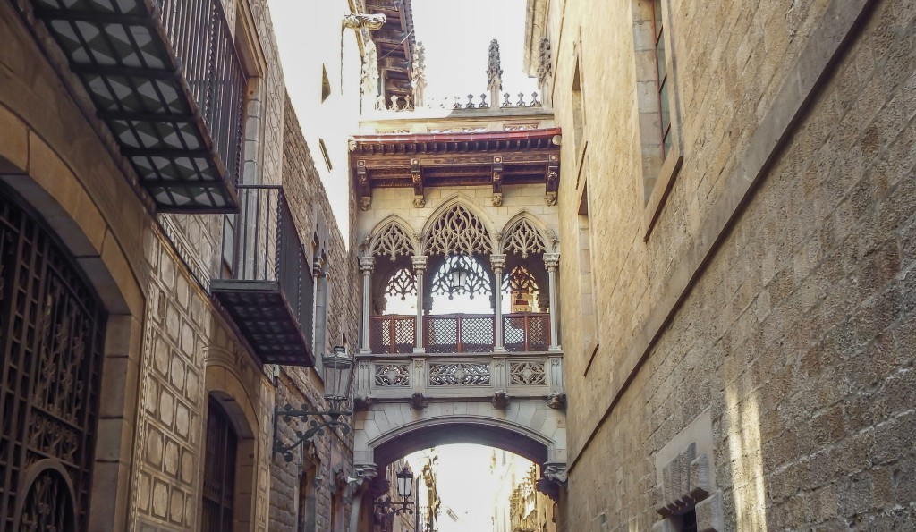 The gothic quarter of Barcelona, Spain