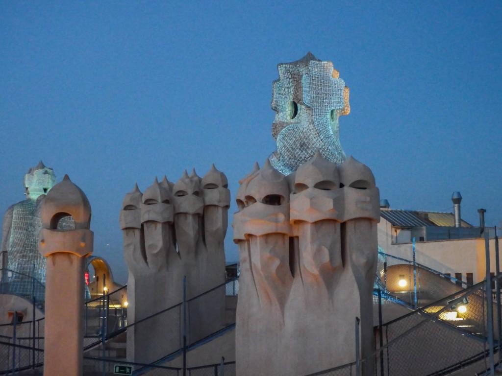 The rooftop of Antoni Gaudí's Casa Mila (aka La Pedrera) in Barcelona, Spain