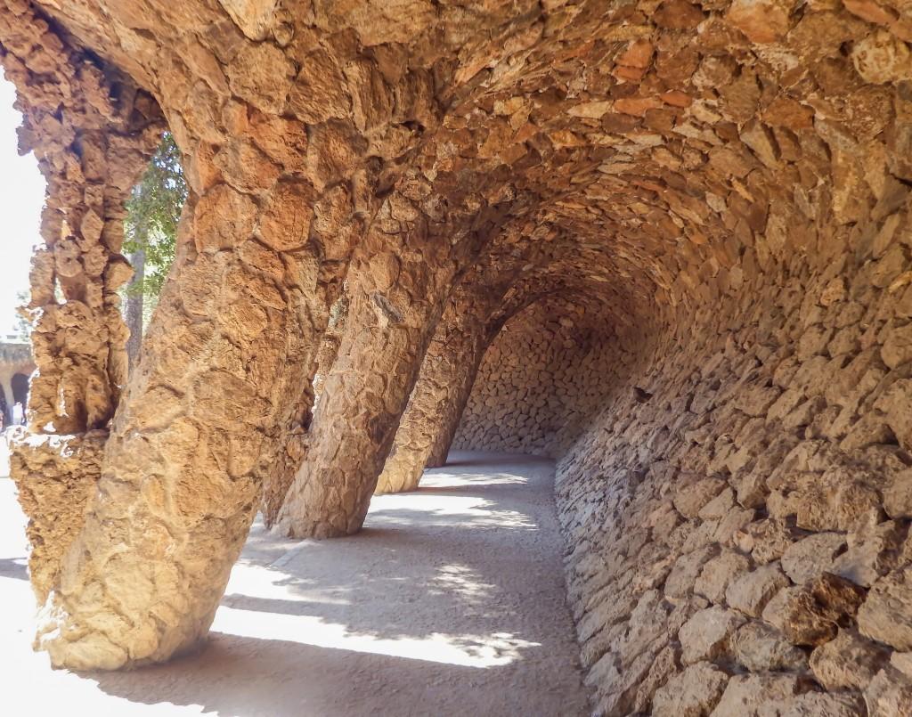Antoni Gaudí's Wave at Park Güell in Barcelona, Spain