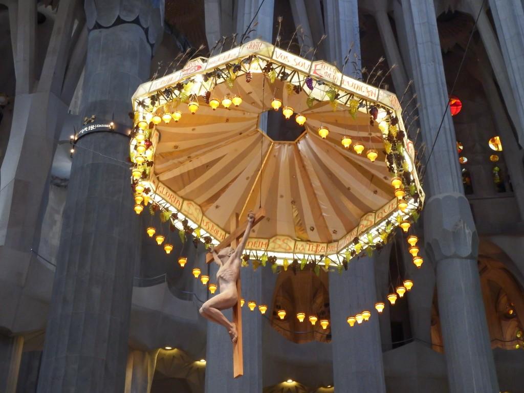 Gaudí's Jesus at Sagrada Familia in Barcelona, Spain