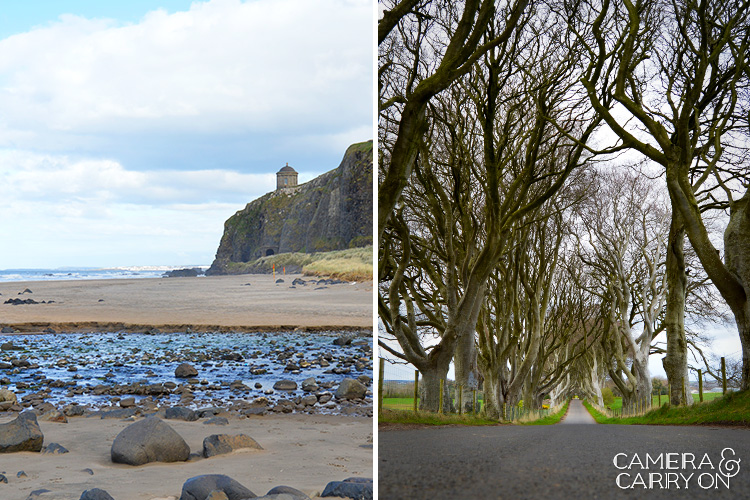 Game of Thrones scenes while exploring ireland