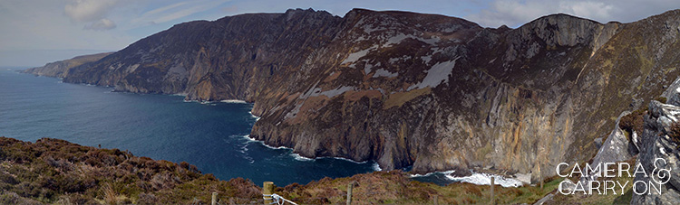 Panoramic coastline seen while exploring ireland