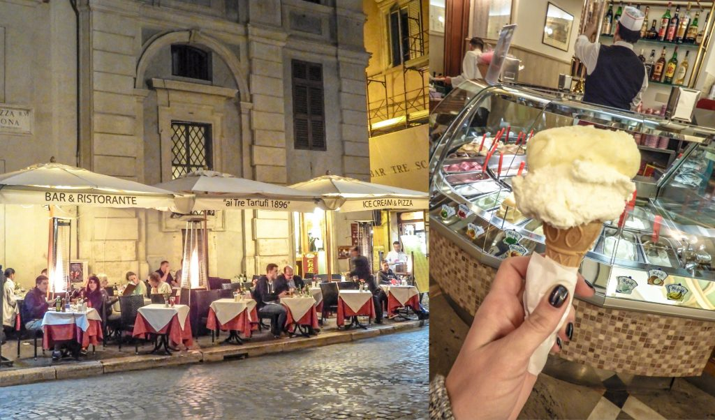 Eating the best gelato in Italy at Piazza Navona during 2 days in Rome