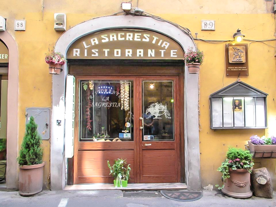 Eating pizza for lunch at La Segrestia during 2 days in Rome, Italy