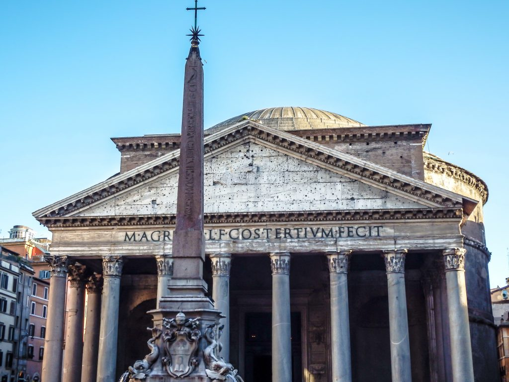 Visiting the Pantheon during 2 days in Rome, Italy