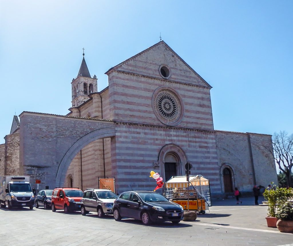 The Basilica of Saint Clare in Assisi, Italy