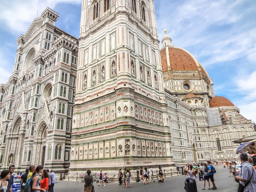 Walking around the Duomo during 2 days in Florence, Italy