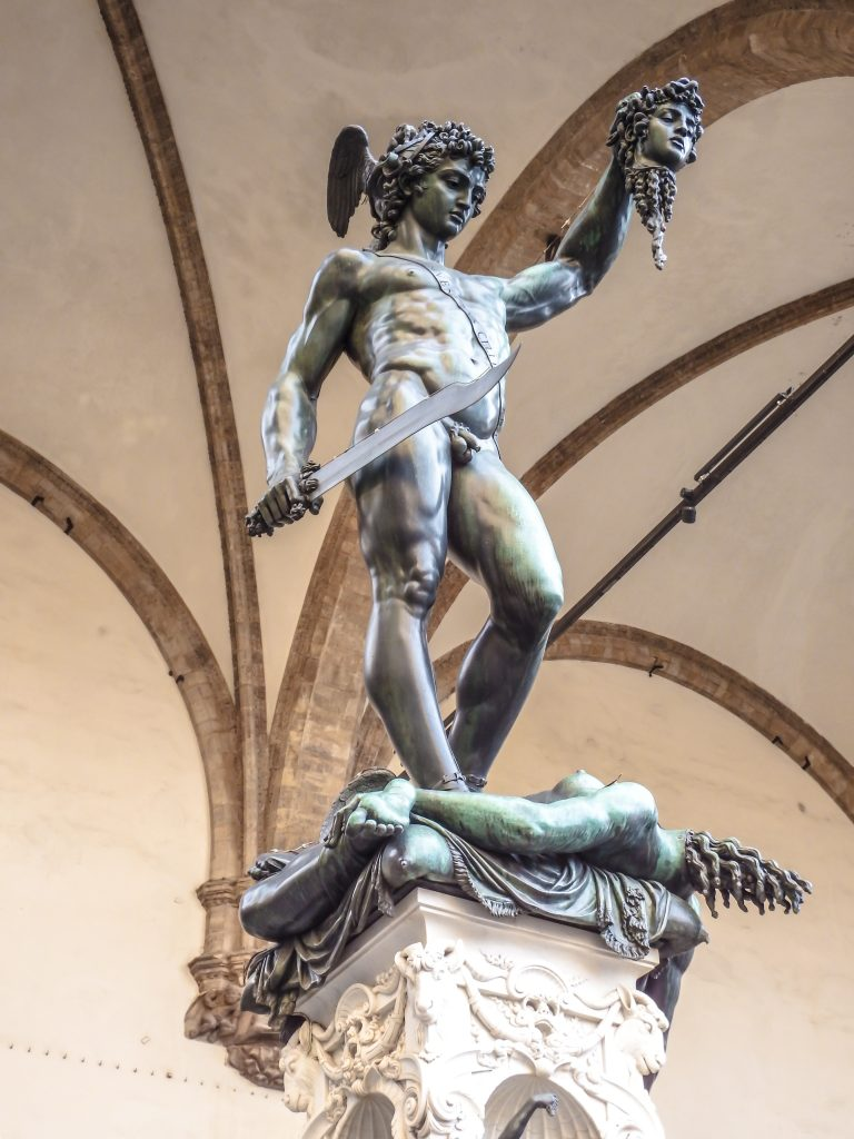 Statues in Piazza della Signoria in Florence, Italy