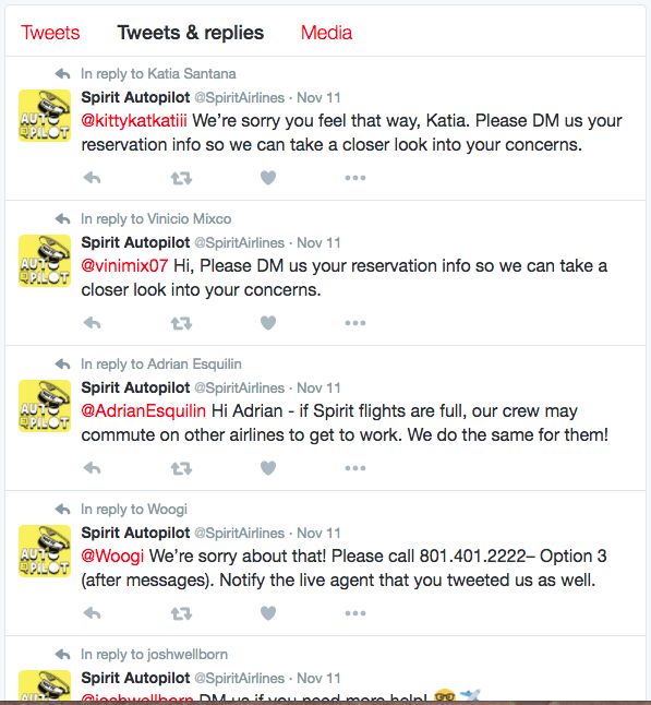 Spirit Airlines complaints