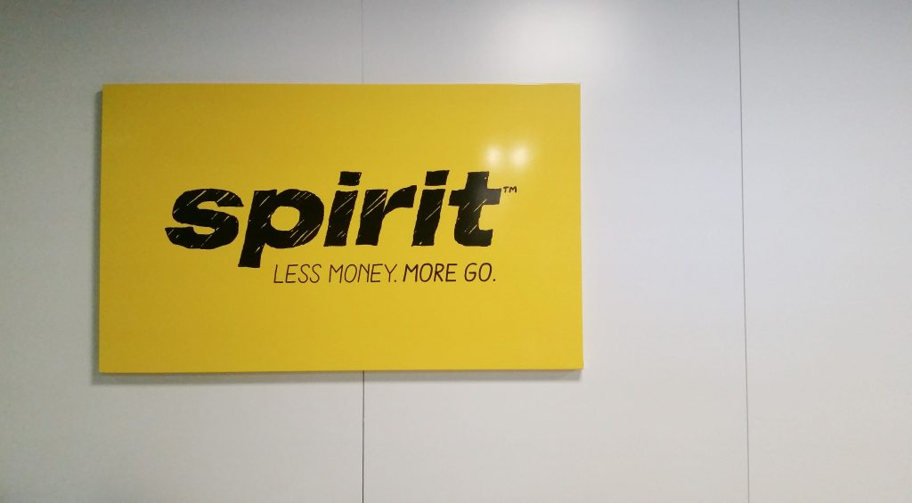 Spirit Airlines sign