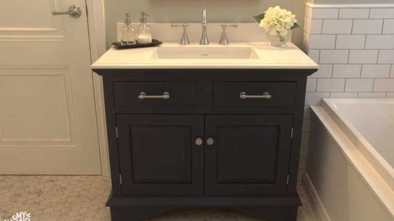 Upcycled Bathroom Vanity
