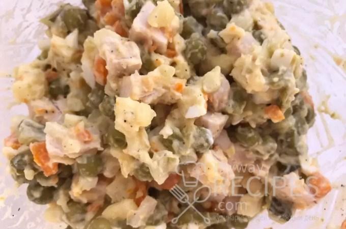 Домашний салатик «Оливье»
