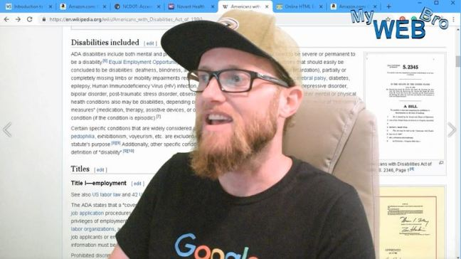 The thumbnail image for ADA Compiance video showing matt panepinto my web bro