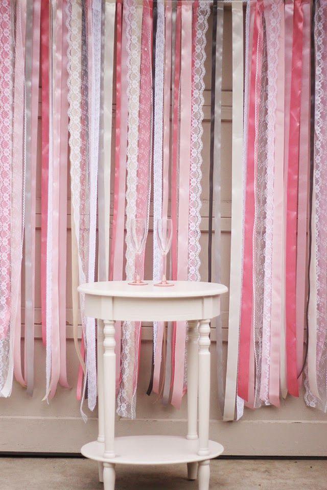 tutorial photocall cintas boda decoración