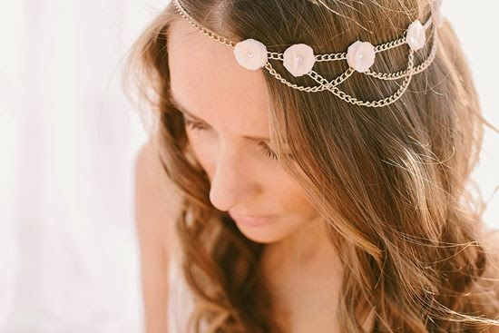 cadenas pelo wedding chain headpiece