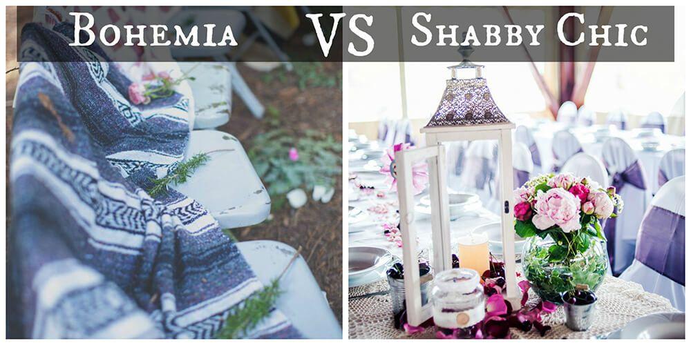 Boda Bohemia vs Boda Shabby Chic