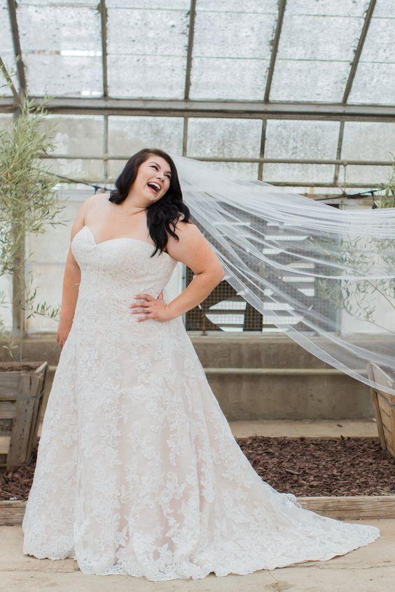 vestidos de novia talla grande