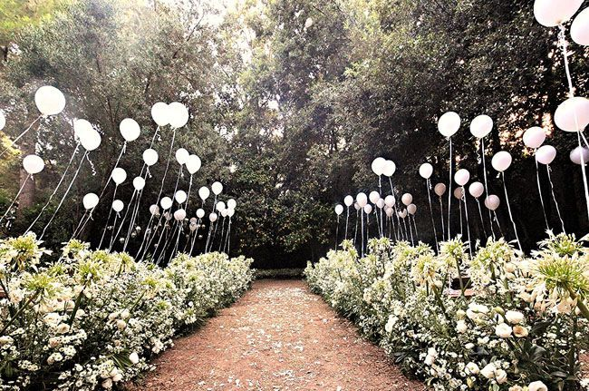 decorar boda globos