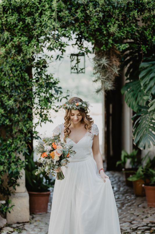 Frescura y naturaleza novia
