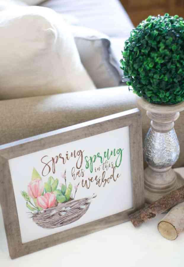 free spring printable wall art