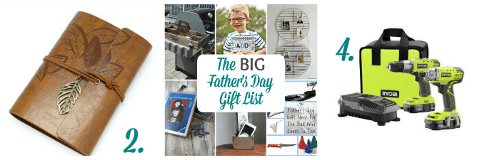 tuesday turn about link party 3 collage of photos of fathers day gifts