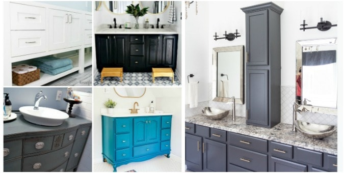 tuesday turn about easy projects collage of bathroom vanities