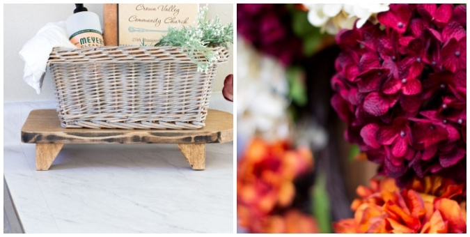 tuesday turn about 108 coastal elements collage of basket on counter and hydrangea wreath