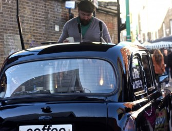 Stopping to smell the coffee from a London black cab