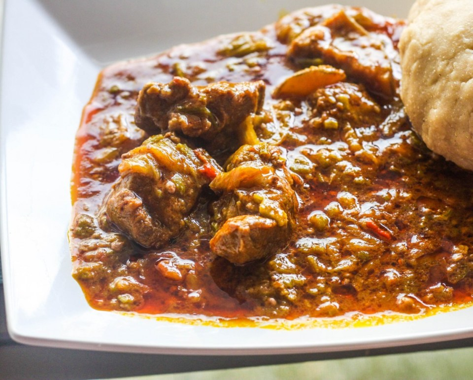 Banku and Okro Stew
