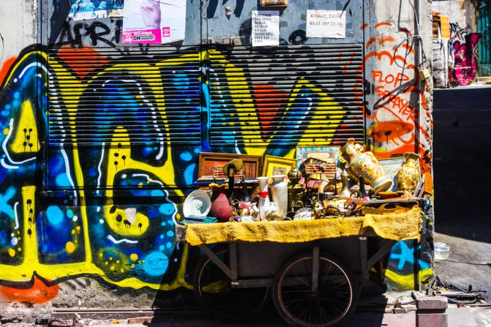 Street art and graffiti in Istanbul