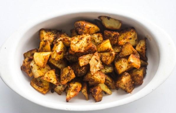 Suya roast potatoes