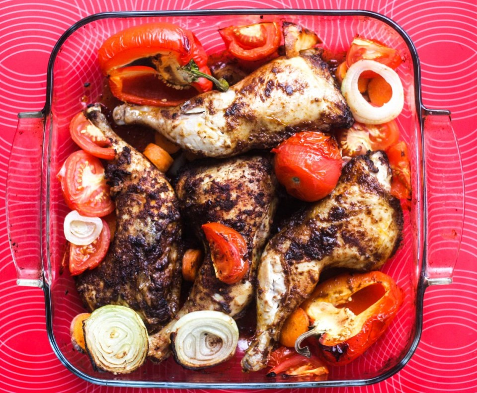 Suya spiced roast chicken
