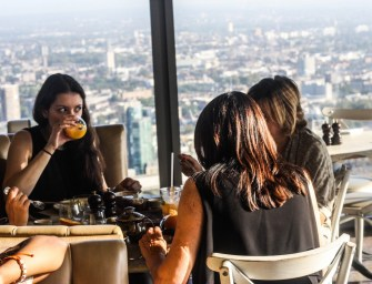 Breakfast on top of London at the Duck and Waffle