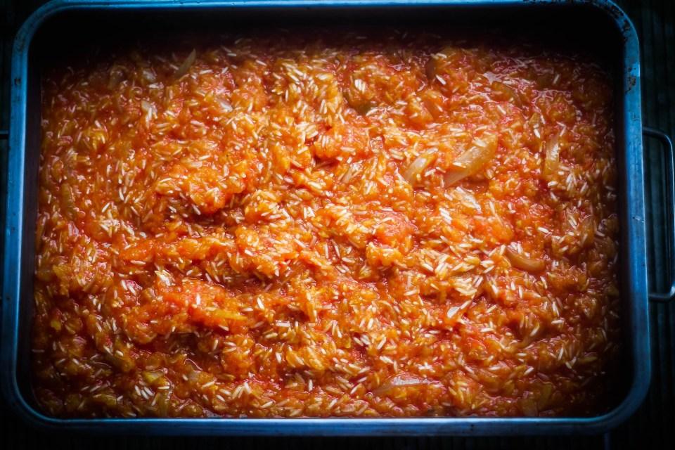 Oven-baked Jollof rice is surely the best way of cooking jollof!