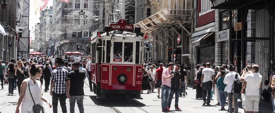 Istanbul's Istiklal Caddesi Tram