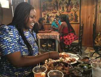 Sunday lunch at Ghana's Chez Clarisse restaurant